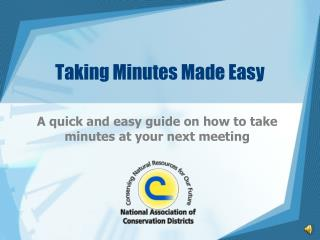 Taking Minutes Made Easy