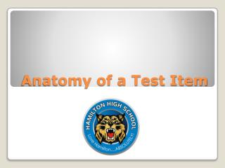 Anatomy of a Test Item