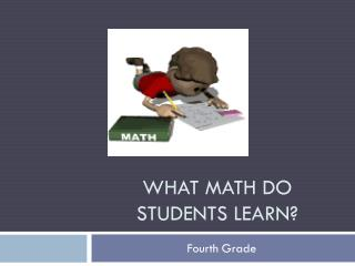 What Math do students learn?
