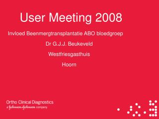 User Meeting 2008