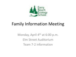 Family Information Meeting