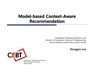 Model-based Context-Aware  Recommendation