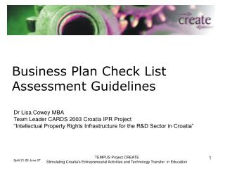 Business Plan Check List   Assessment Guidelines