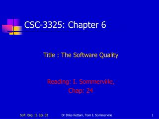CSC-3325:  Chapter  6