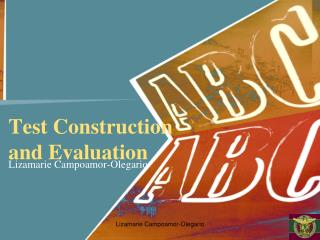 Test Construction  and Evaluation