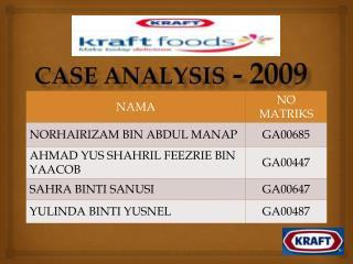 CASE ANALYSIS  - 2009