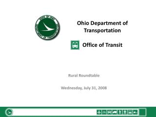 Ohio Department of Transportation  Office of Transit