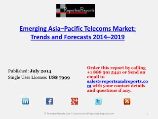 2019 Asia Pacific Telecoms Market Trends and Forecasts
