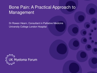 Pain Management: Overview of A Practical Approach