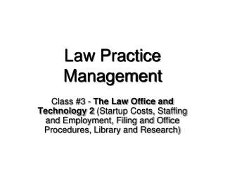 Law Practice Management