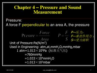 Chapter 4  –  Pressure and Sound Measurement