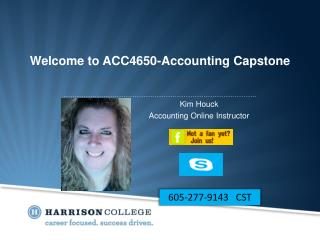 Welcome to ACC4650-Accounting Capstone