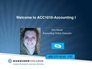 Welcome to ACC1010-Accounting I