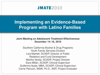 Implementing an Evidence-Based Program with Latino Families
