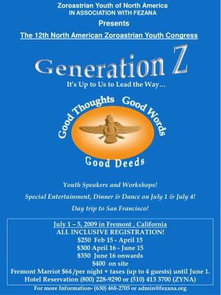Zoroastrian Youth of North America IN ASSOCIATION WITH FEZANA