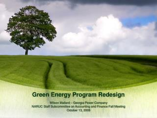 Green Energy Program Redesign
