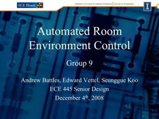 Automated Room Environment Control