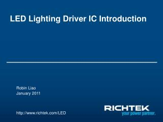 LED Lighting Driver IC Introduction