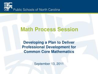 Math Process Session