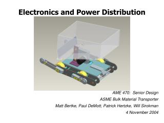 Electronics and Power Distribution