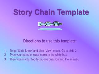 Story Chain Template