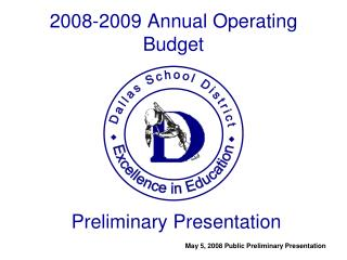 2008-2009 Annual Operating Budget