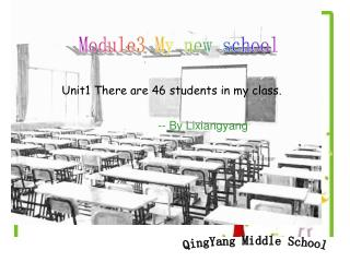 Unit1 There are 46 students in my class.