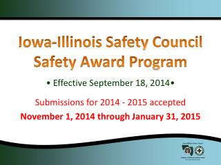 Iowa-Illinois Safety Council Safety Award Program