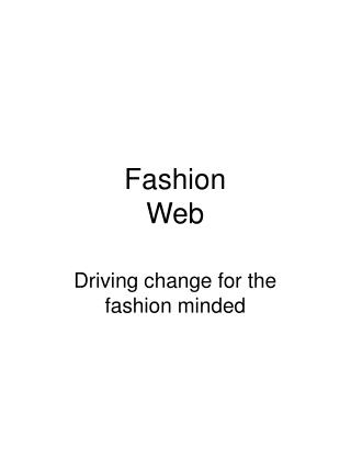 Fashion Web
