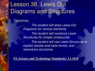 Lesson 38  Lewis Dot Diagrams and Structures