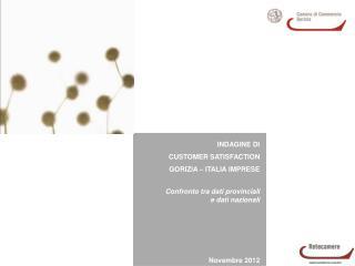 INDAGINE DI  CUSTOMER SATISFACTION GORIZIA – ITALIA IMPRESE Confronto tra dati provinciali