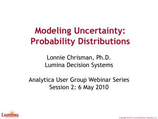 Modeling Uncertainty: Probability Distributions