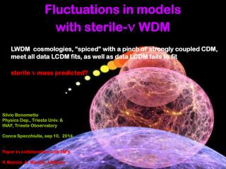 Fluctuations in models with sterile- n  WDM