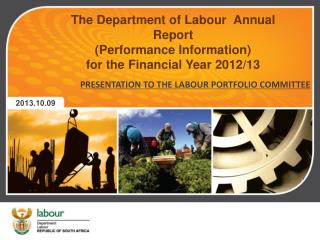 The  Department of Labour   Annual Report  (Performance Information)