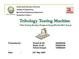 Tribology Testing Machine