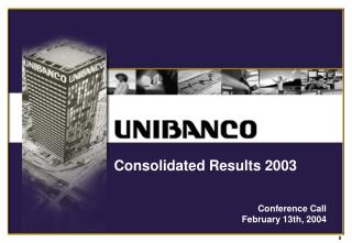 Consolidated Results 2003