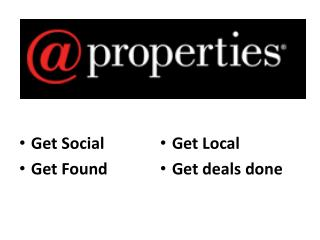 Get Social Get Found Get Local  Get deals done