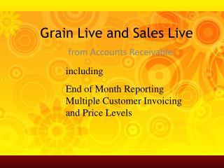 Grain Live and Sales Live