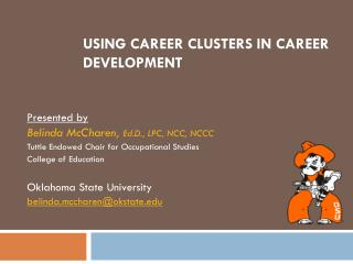 Using Career Clusters In Career Development
