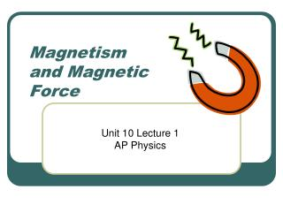 Magnetism and Magnetic Force