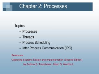 Chapter 2: Processes