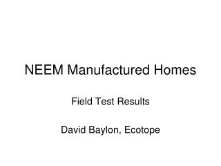 NEEM Manufactured Homes