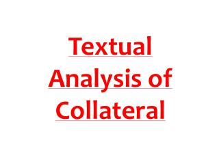 Textual Analysis of Collateral