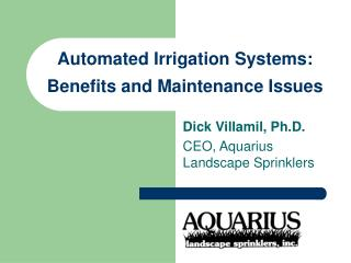 Automated Irrigation Systems: Benefits and Maintenance Issues