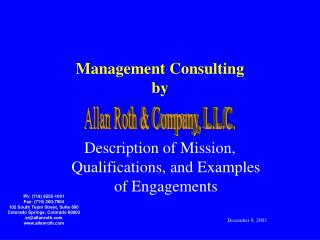Management Consulting by
