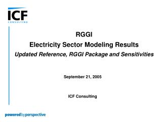 September 21, 2005 ICF Consulting