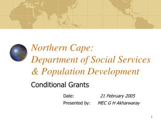 Northern Cape:  Department of Social Services & Population Development