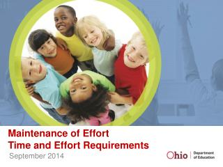 Maintenance of Effort Time and Effort Requirements