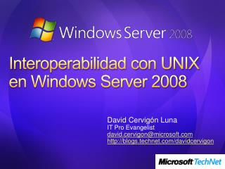 Interoperabilidad con UNIX en Windows Server 2008
