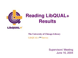 Reading LibQUAL+ Results